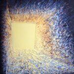 Magdalena Barczyk-Kurus, Projekcja, cykl Intymność światła, 100x90, akryl na płótnie, 2014